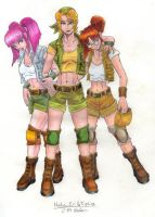 Metal Slug Girls by razielapprentice