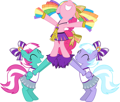 Pinkie With Cheerleaders by Jeatz-Axl