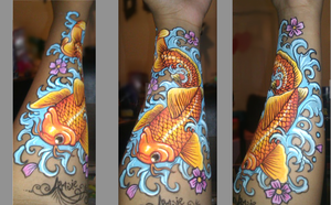koi like a tattoo by ARTSIE-FARTSIE-PAINT