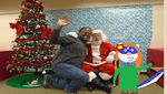 Me and Jackie with Santa by mylesterlucky7