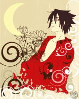 Sasuke 'lady' in red XD by Kaosshojo