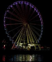 Wheel at night 1 by Mackingster