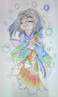 Ningyo Hime's GrandMother = Oba-chan = by Charming-Manatee