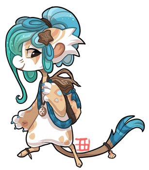 #366 Floral Bagbean - Driftwood AUCTION CLOSED by griffsnuff