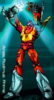 Arise, Rodimus Prime by molepunch