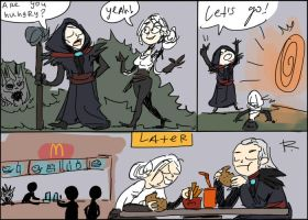 The Witcher 3, doodles 111 by Ayej