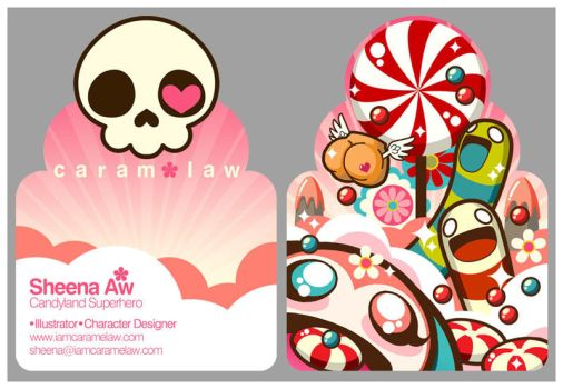 Candy namecard by caramelaw