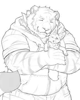 Snuggly Tiger Ralph by RalphTheFeline