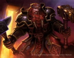 Warcraft TCG - Magni by namesjames