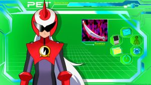 ProtoMan.EXE PET Desktop Wallpaper by Mega-X-stream
