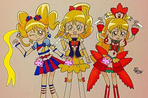 Happiness Charge PreCure: Cure Honey and Forms by Charisma-Moon