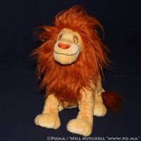 The Lion King - Adult Simba plush by Hasbro - 2005 by dapumakat
