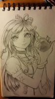 Lady With apple / Anime by Juliichi