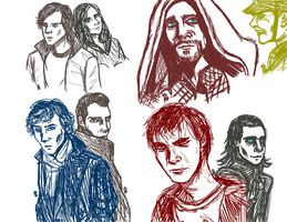 Group Drawing by InvisibleCorpseGirl