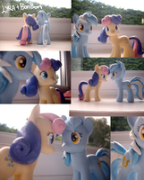 Sculpted lyra and bonbon customs by Affanita