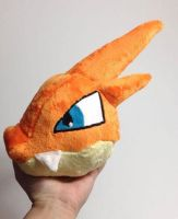 Wip Mega Charizard Y head custom plush by Kitamon