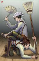 Attack on Titan - Levi and Eren by TyrineCarver