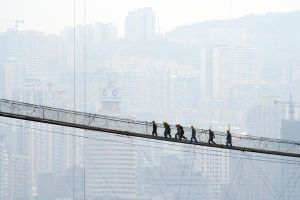 Yangtse Bridge Workers by carlparow