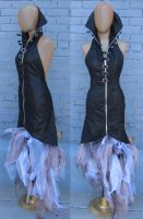 Backless Villainess Dress by Saltlake-tightlacer