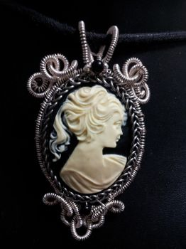Coiled victorian lady cameo by BacktoEarthCreations