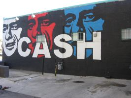Wahoo Fish Tacos Johnny Cash Mural by HumbleQuietOne