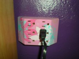 Multi Plug with Flower Designs by Angelpedia