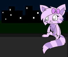 sitting on a wall XD by MillyTheTigerKitten