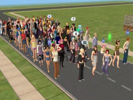 The Sims 2: Guests at a Party by BritneyBritofldw