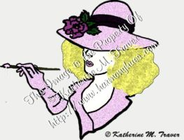 Painter Lady in Light Pink by Katrina1944