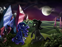 Luna and Sombra by Nalesia