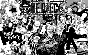 OnePiece MangaPieces Wallpaper by WHiT-3