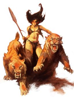 Study | Frank Frazetta #1 - Tiger Girl by Spellsword95
