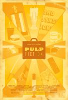 Pulp Fiction Poster by adamrabalais