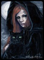 ACEO -- Witching Hour by ElvenstarArt