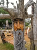 Wooden Bearded Guy II by KelbelleStock