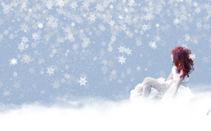 Widescreen Winter Redhead WP by Lostprincessofoz