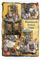 Steampunk Potion Table Mini by grimdeva