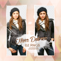Pack png 327 - Nina Dovrev by worldofpngs