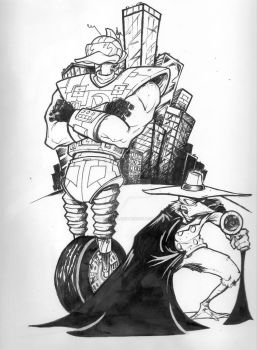 DW and Gizmo Ink Roughs by inkycharland