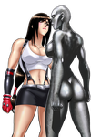 Tifa Lockhart vs Stone Dural by IDBjoshm