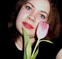 me and tulips 2 by Darta007