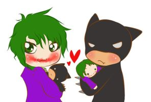 Batsy and Joker by fear-my-phone-grr