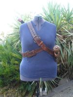 Celtic Double Baldric -front- by BanesArmory