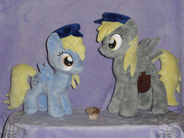 Two Derpys and One Muffin, What shall We Do by WhiteDove-Creations