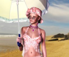 Pinky Lady on beach by phil36