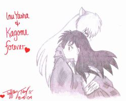 InuYasha and Kagome by InkMunkY