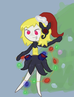 Meloetta fortissiomo christmas by omgCheez