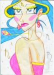 Planet Girl Saturn Saturnchik Drawings Comics Arts by Selenit-Saturn