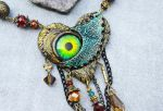 Zombie Bleeding Heart Necklace by Hidden-Treasury