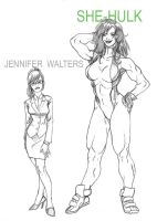 She-Hulk feat Jennifer Walters by ChocoboRunner